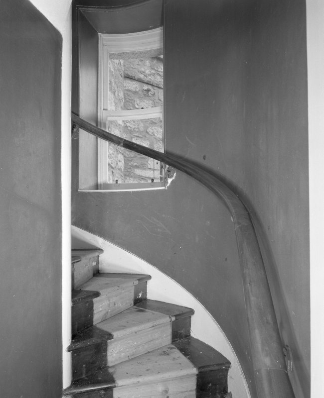 West staircase, detail