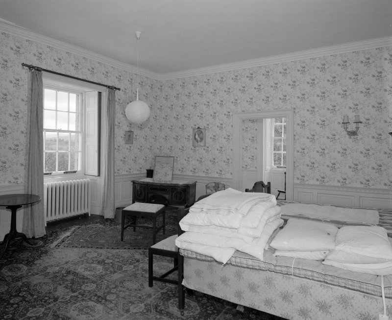 First floor, South West bedroom, view from East