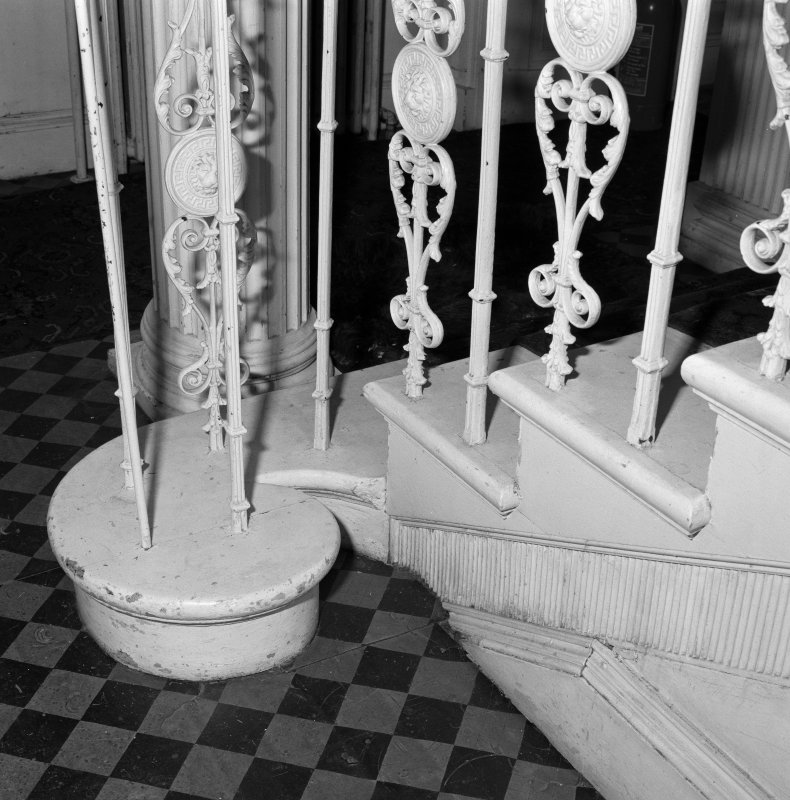 Staircase, base of newel, detail