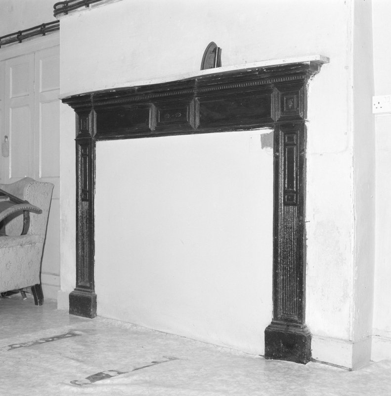 Basement, pantry, fireplace, detail