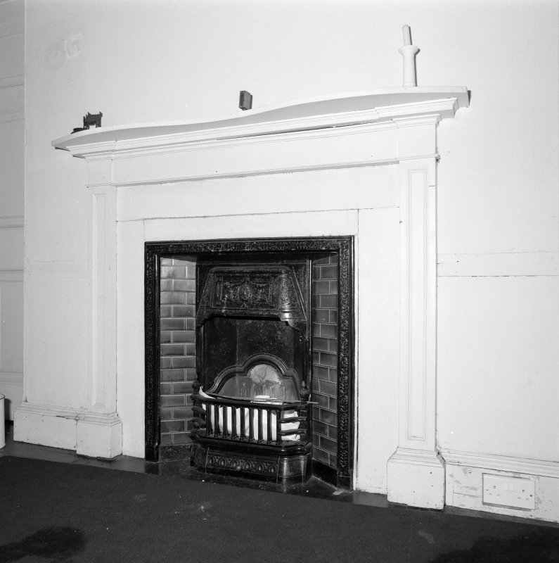 First floor, bedroom, fireplace, detail