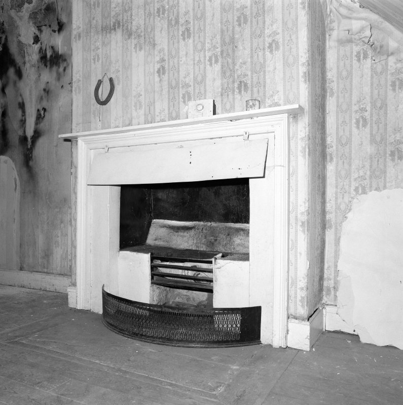 Attic, room, fireplace, detail