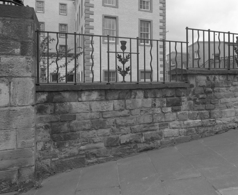 Detail of railings in front of Queensberry House