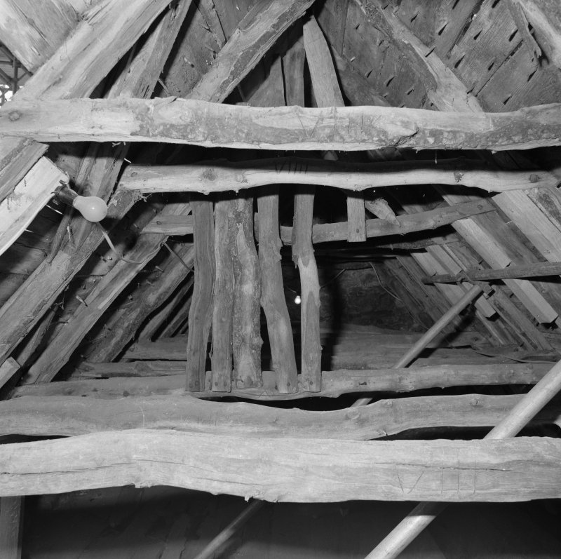 Detail of roof timbers.