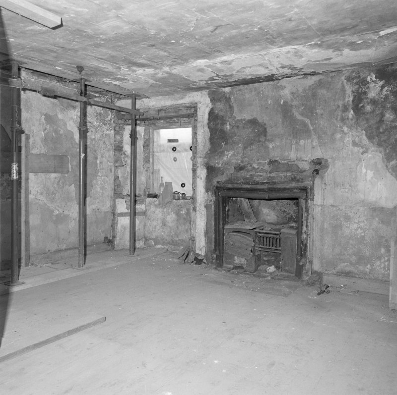 Interior. View of first floor E room from SW.