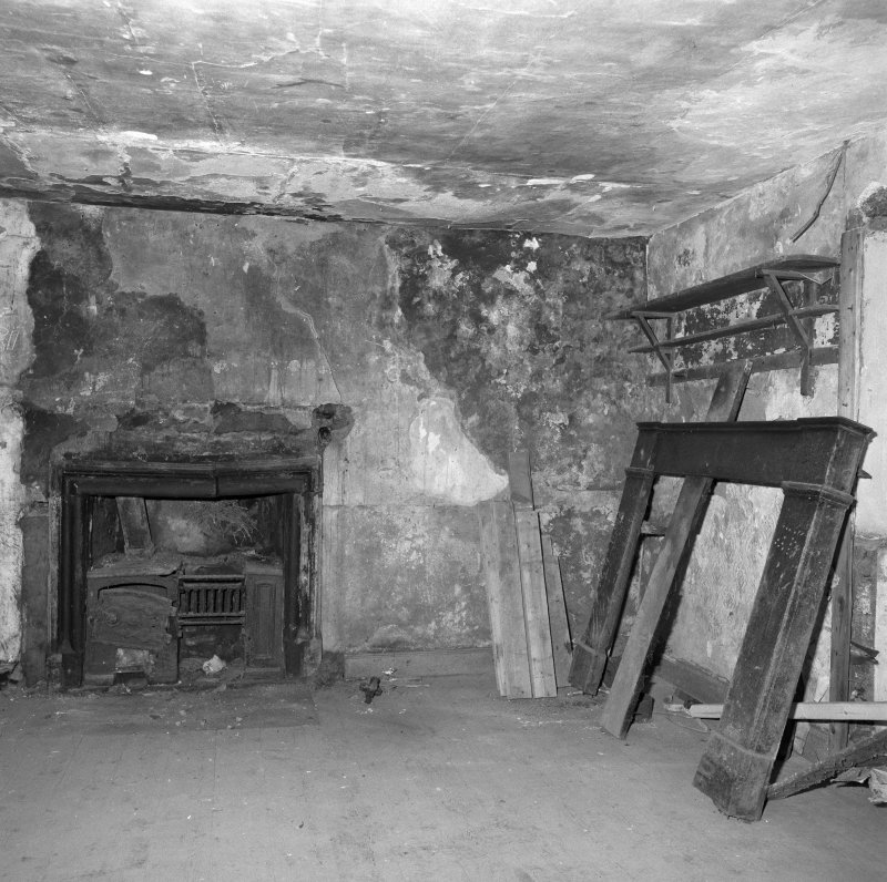 Interior. View of first floor E room from W.