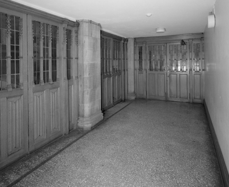 Interior. View of glazed entrance lobby