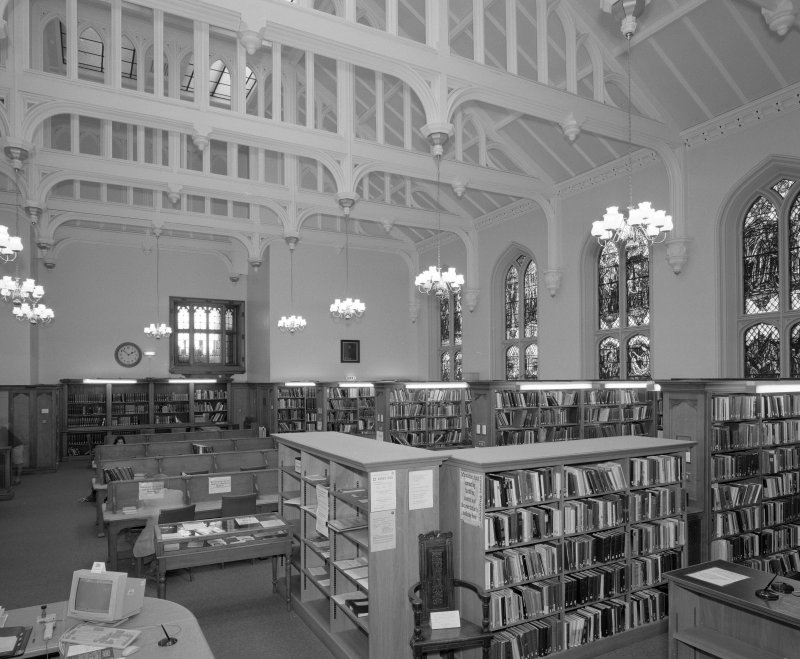 Interior. View of library