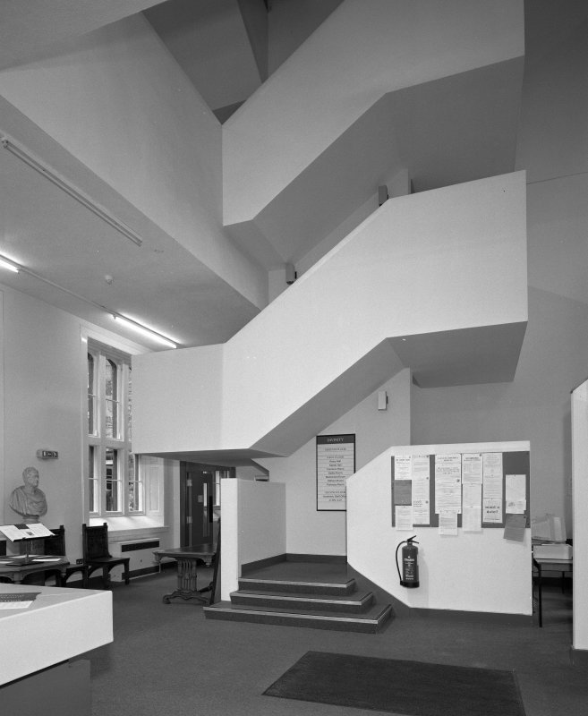 Interior. Faculty of Divinity view of entrance hall and staircase