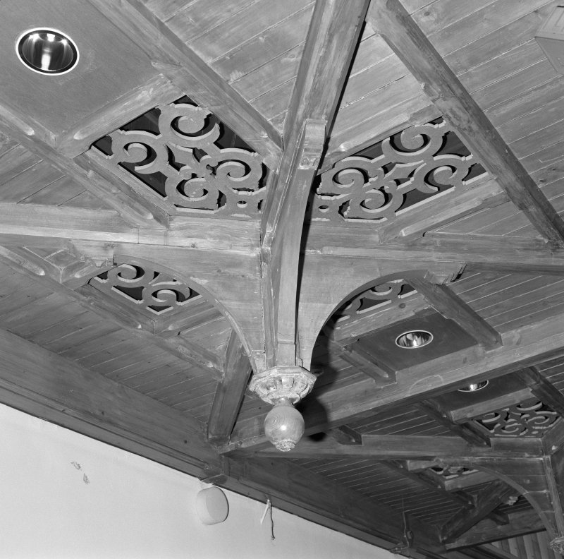 Interior. Assembly Hall detail of ceiling