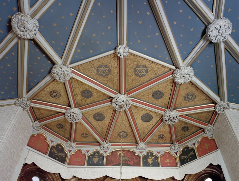 Carstairs House, detail of ceiling in South central room, ground floor.