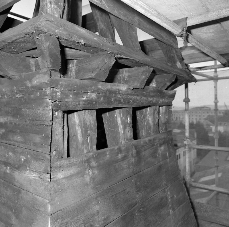 Tower roof, interior, timber-work, detail