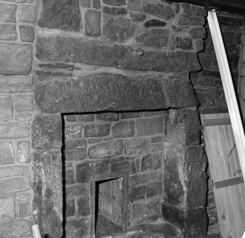 Detail of fireplace