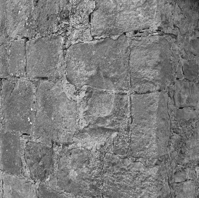 Detail of piscina in South wall to East of doorway.