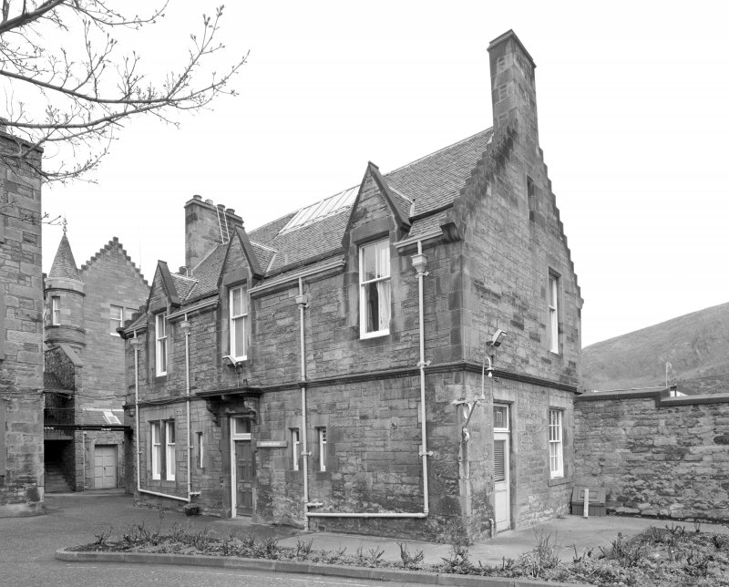 View of rear of lodge from NW