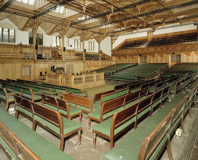 Interior. View of General Assembly Hall from South West