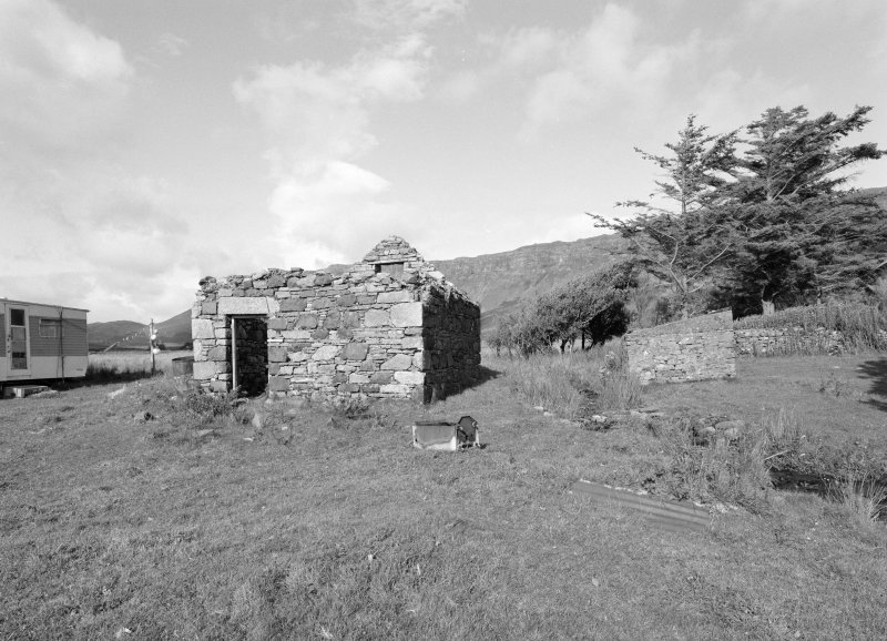 View of ruinous byre from W