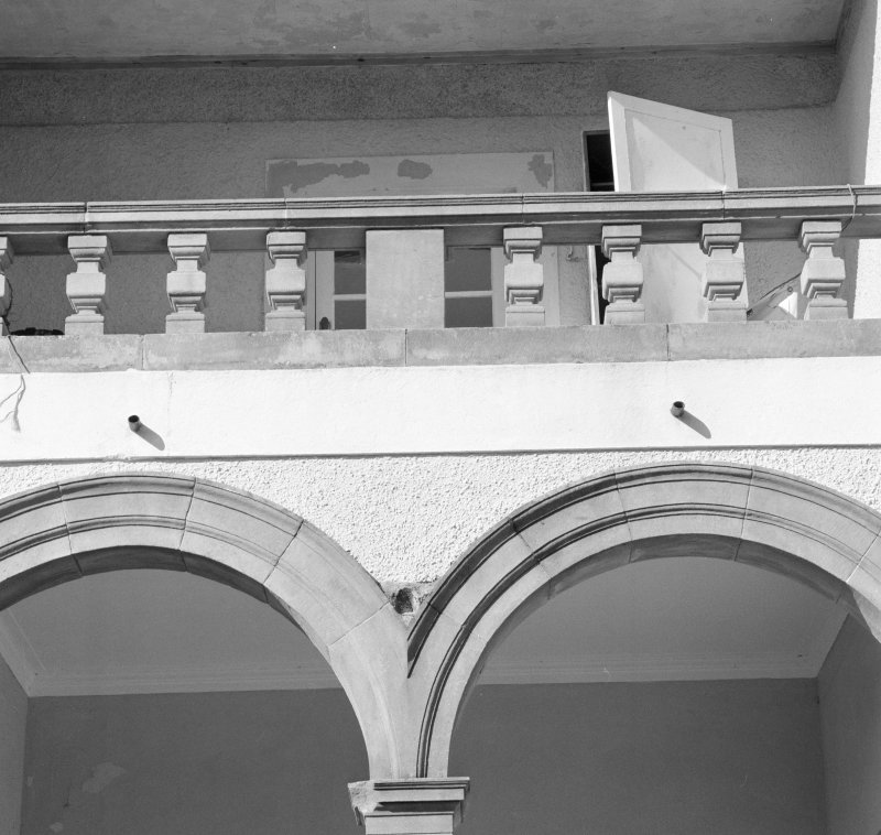 Detail of loggia arcade and balustrade