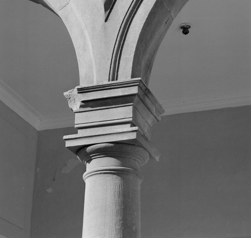Detail of loggia column and capital