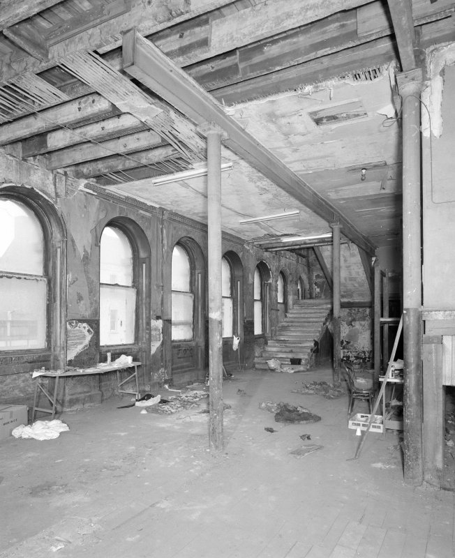 Interior. View of second floor foyer from W.