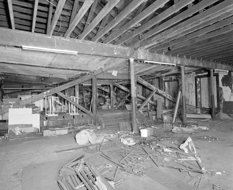 Interior. View of third floor from N.