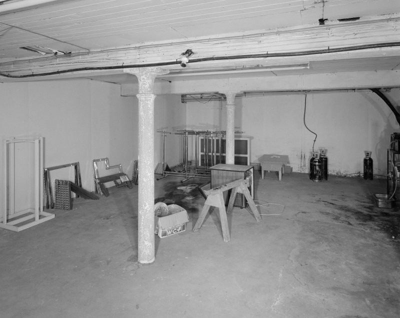 Interior. View of basement from N.
