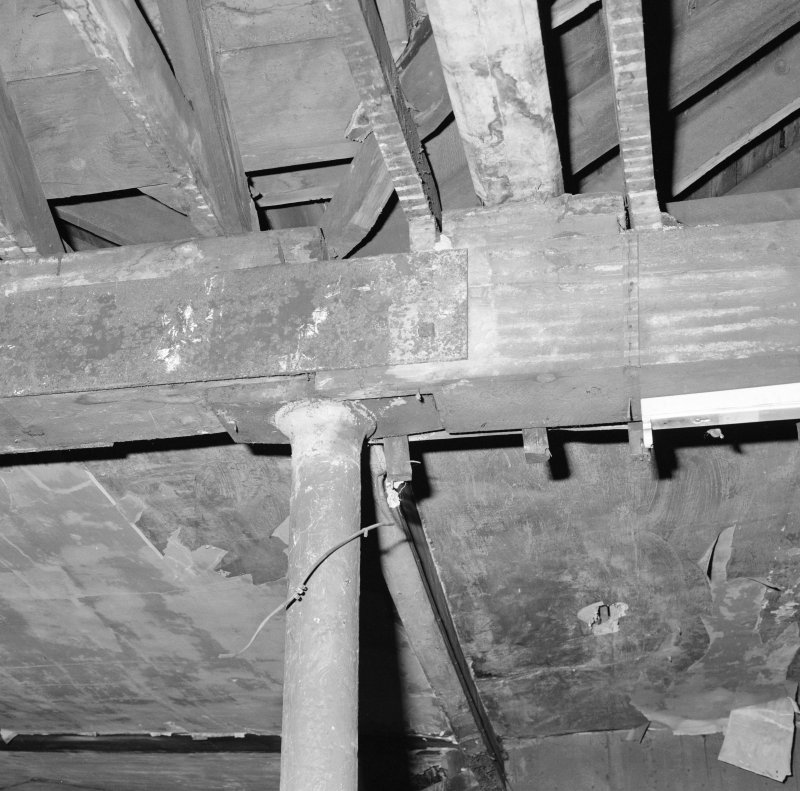 Interior. Detail of third floor column head and beam.