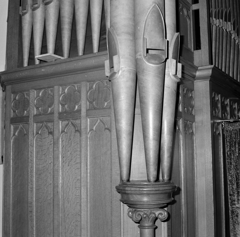 Detail of organ pipes