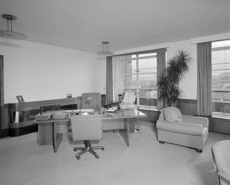 Interior. Fifth Floor  Ministerial Corridor, view of Under Secretary`s office from North West