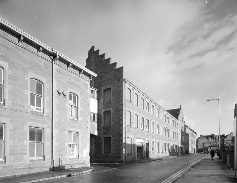 Perth, 1 Mill Street, Pullar's Dyeworks View from south west of east end of south elevation of three-storeyed (and attic) block overlooking Mill Street (built in 1901)
