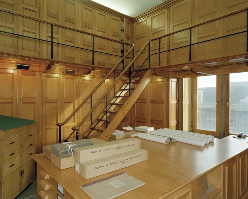 Interior. Town-house, second floor, Charter room, view from North West.