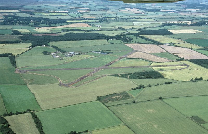 Oblique aerial view centred on Charterhall Airfield, taken from the SE.