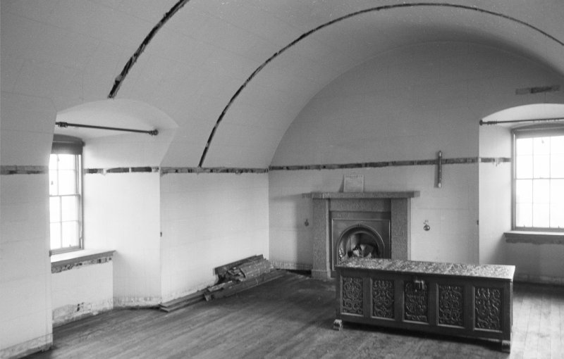 Interior view of tower room, Abergeldie Castle