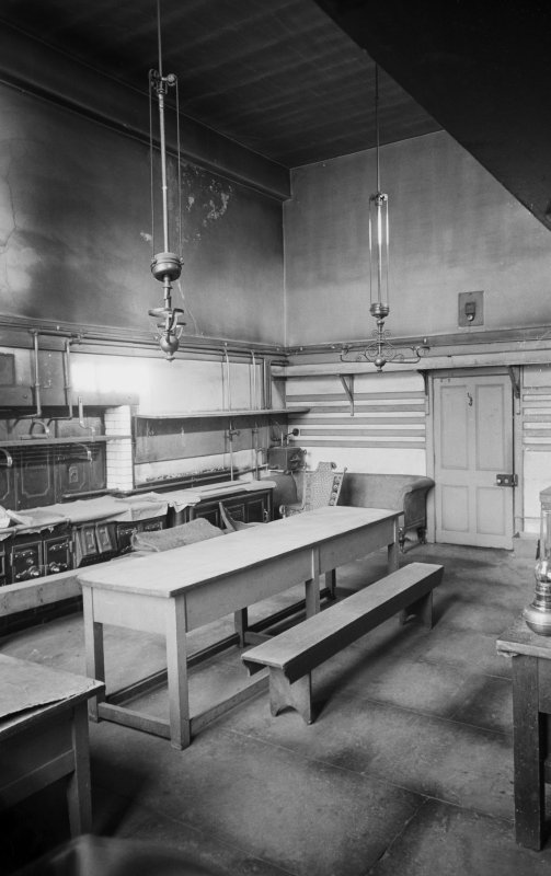 Interior view of kitchen, Abergeldie Castle