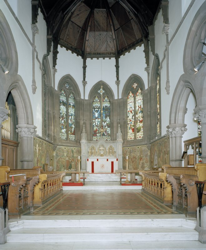 View of chancel from W