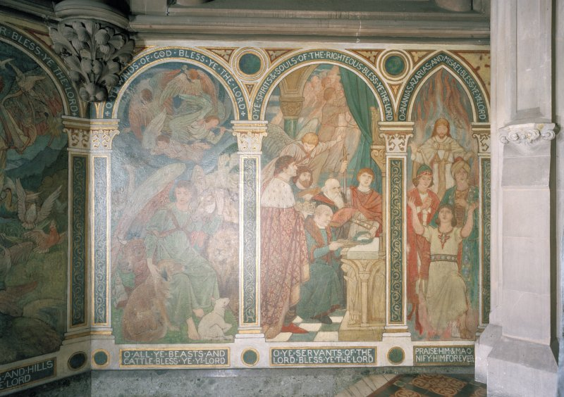 Chancel, murals, detail