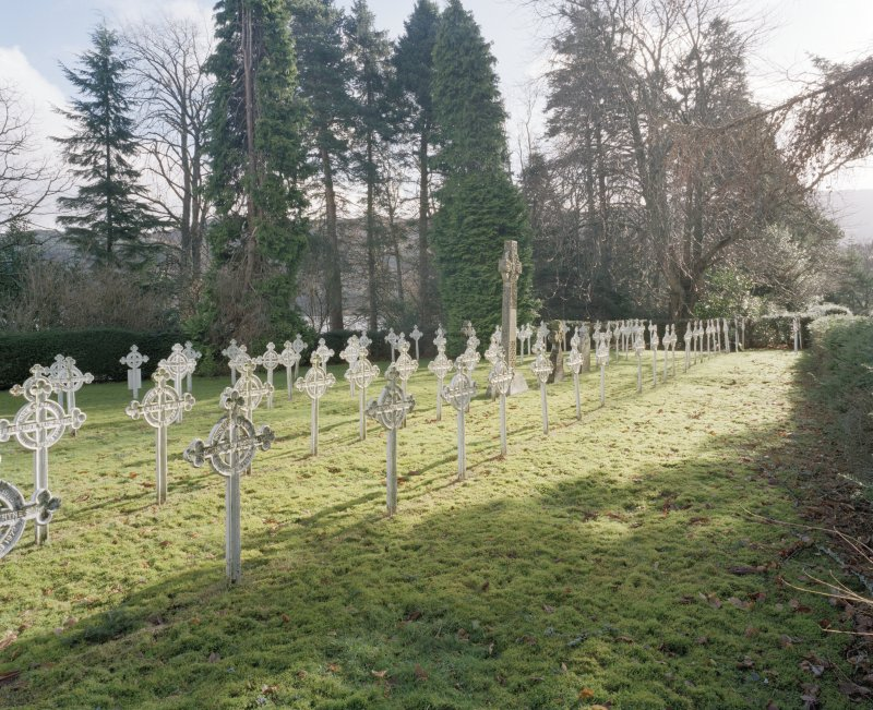 View of burial area from North West