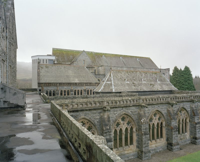 Elevated view of Abbey Church from North