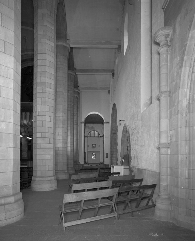 View of South aisle from South West