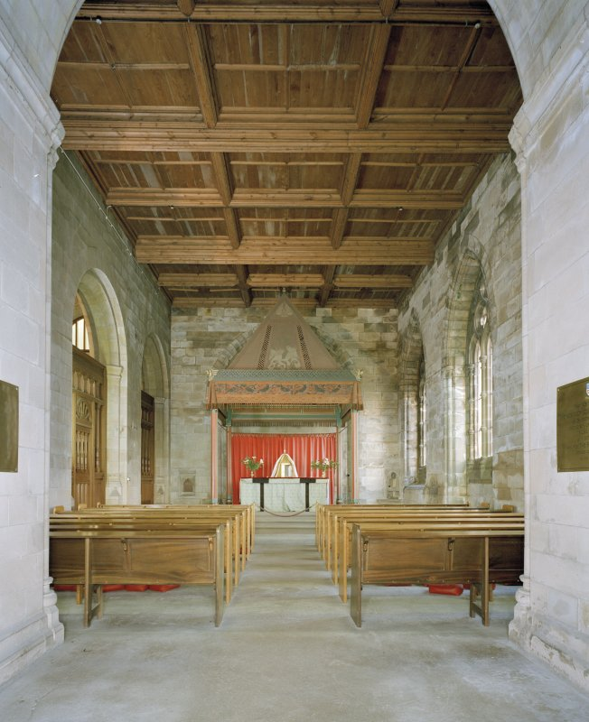 View of 19th century South East aisle from South  West