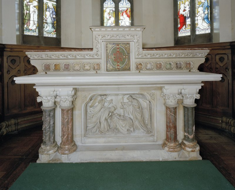 Detail of front of altar in Abbot's Chapel