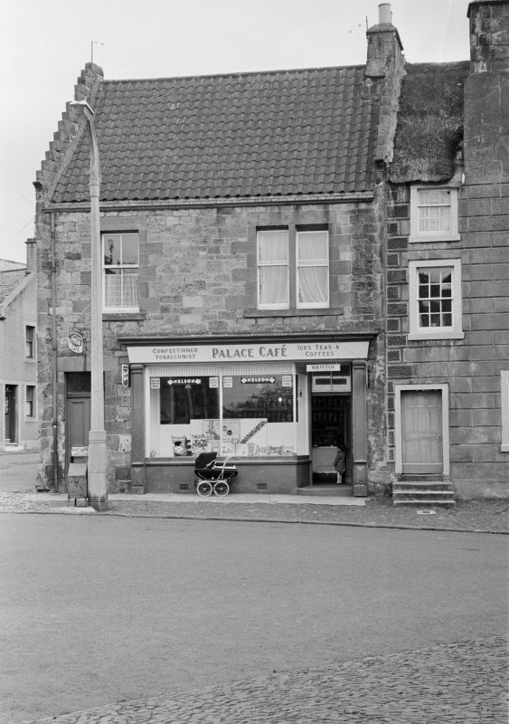 View of the Palace Cafe, High Street, Falkland, next to Cameron House