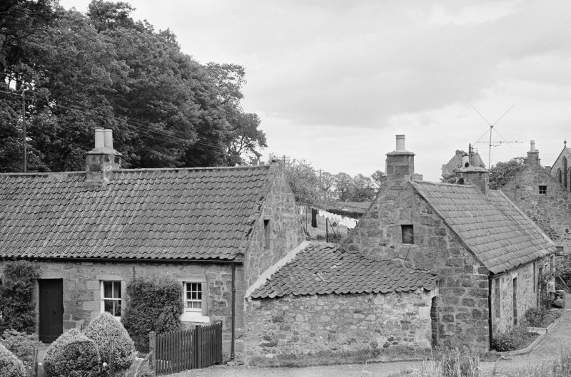 View of back of cottage in Balmblae, Falkland