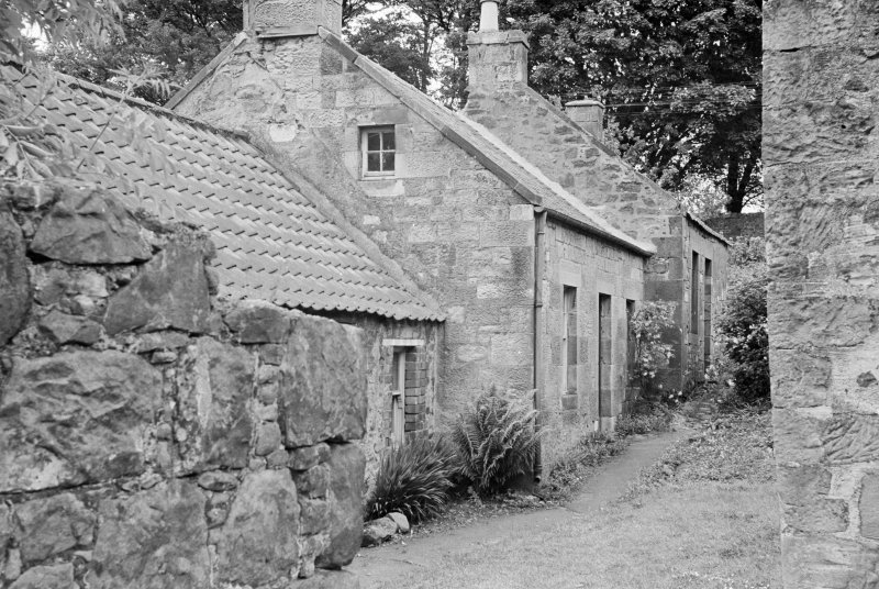 View of cottages in Balmblae, Falkland