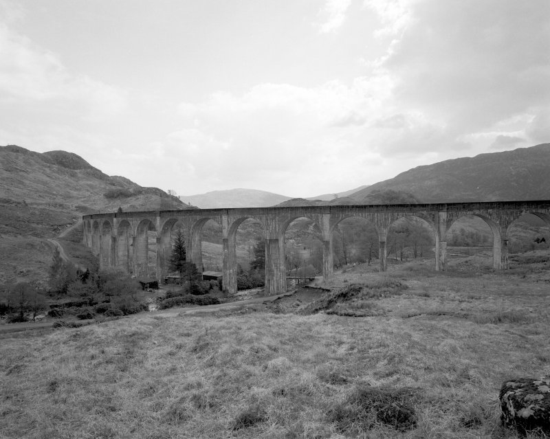 Glenfinnan Railway Viaduct over River Finnan View of N side of viaduct from NW
