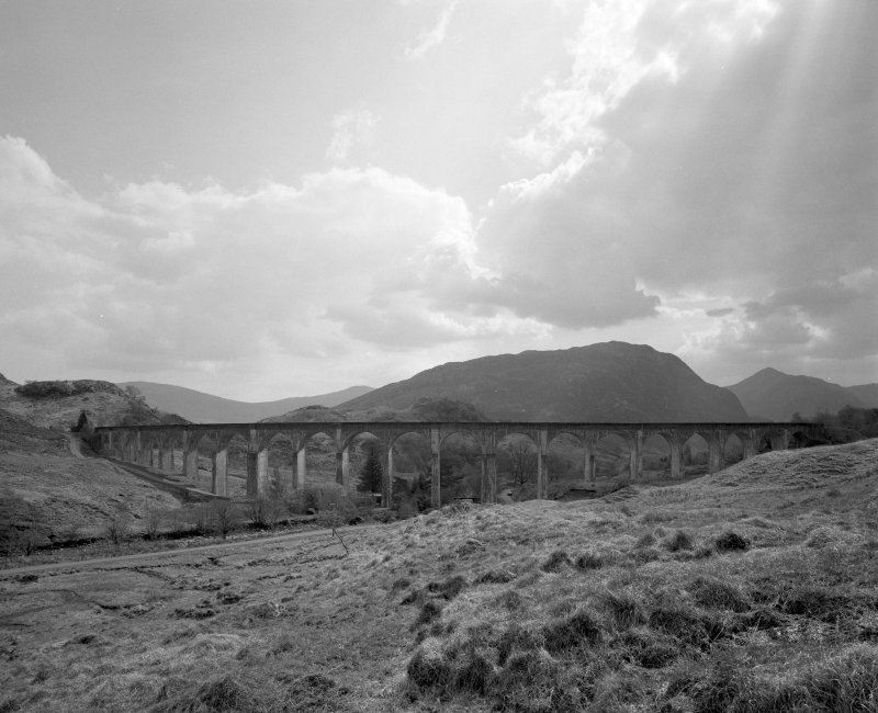 Glenfinnan Railway Viaduct over River Finnan View of N side of viaduct from N