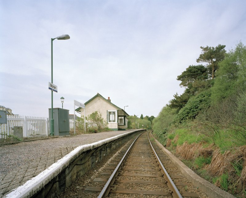 Morar Station and Post Office General view of station from S