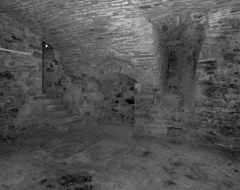 Basement, vaulted kitchen, view from North West.