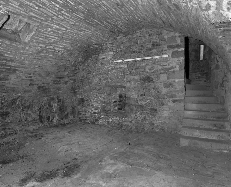 Basement, vaulted kitchen, view from South West.