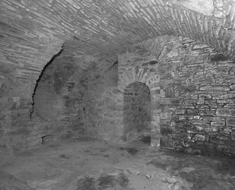 Basement, vaulted kitchen, view from South East.
